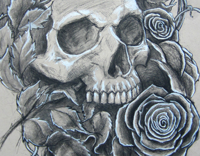 Skull and Roses Work Number 1