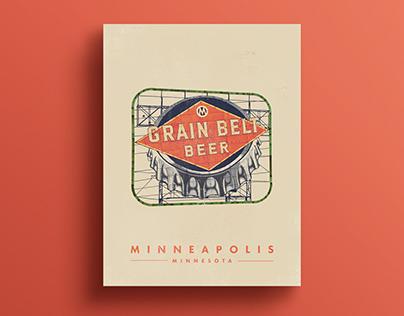 Poster Series: Grain Belt Beer