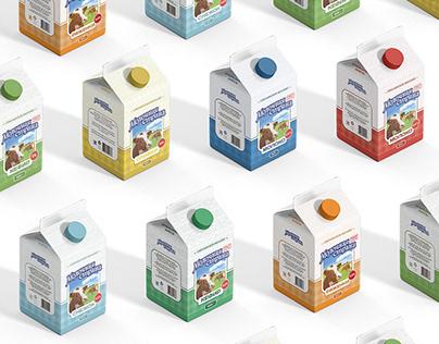 «Молочная Страна»™   redesign label   branding