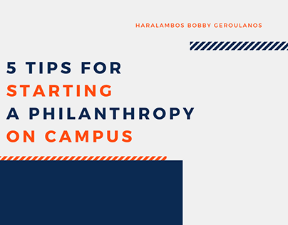 5 Tips for Starting a Philanthropy on Campus