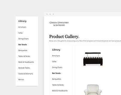 Chelsea Upholstery | Webdesign