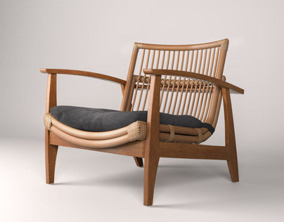 Noelie Chair - 3d modeling