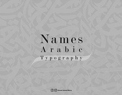 Arabic Names Typography