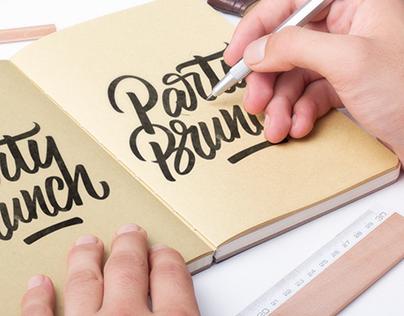 3D Lettering & Logo Design   Party Brunch ®