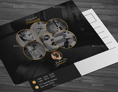 Photography Post Card Templates