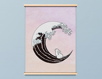 Moon Rabbit Poster