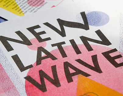 New Latin Wave Risograph Poster