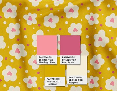 Minimalist Floral Vector Pattern