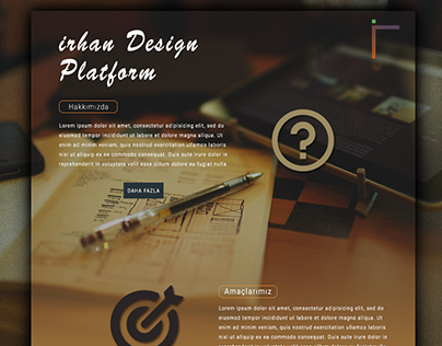 A website concept I designed for myself.
