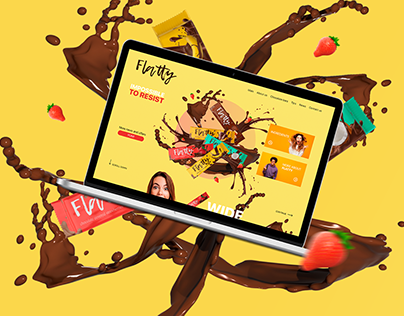 Landing page chocolate