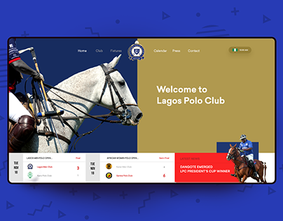 Lagos Polo Club Web Redesign