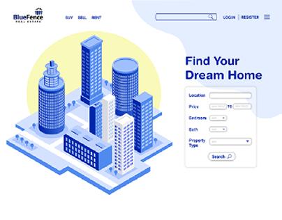 Blue Fence Real Estate | Website - UI/UX