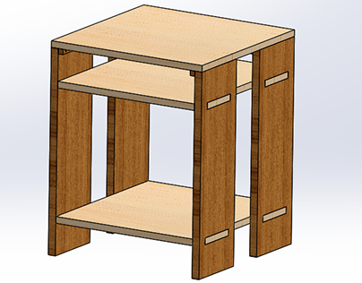 Maple and Teak Bedside Tables