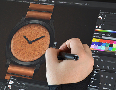 RAW - handmade watch -Illustrator CC