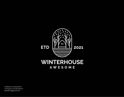 Lineart Winter House Logo
