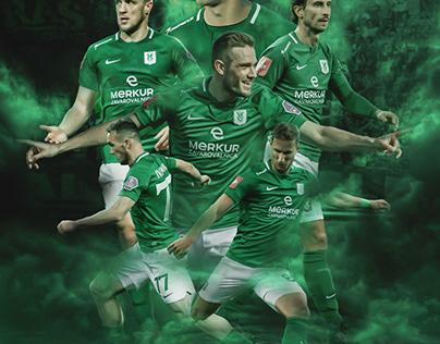 Sports poster design: MARIBOR X OLIMPIJA
