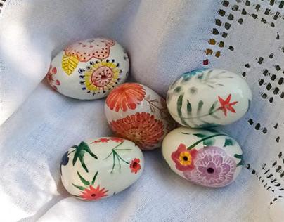 Easter Ceramic Eggs