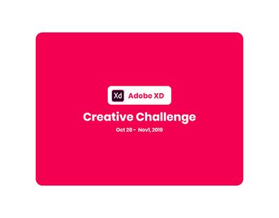 Adobe Xd - Creative Challenge