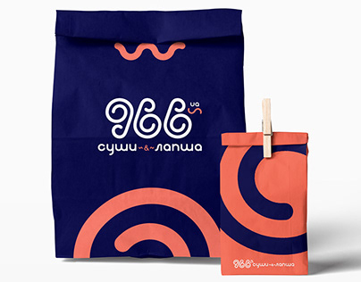 """966""Food Delivery service Logo & Branding concept"