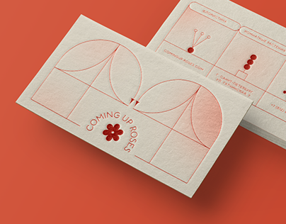 Brand identity for COMING UP ROSES