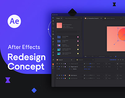 Adobe After Effects Redesign Concept