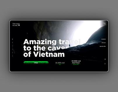 Web site for tour guide Vietnam traveler