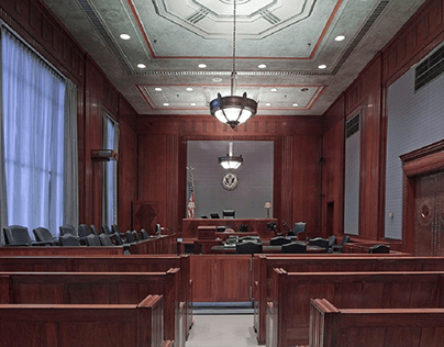Courtroom benches and seats