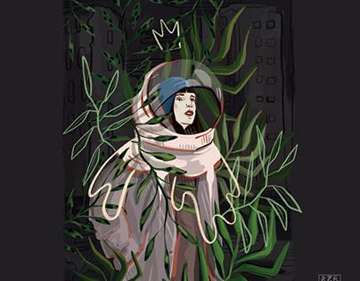 Cosmic girls - illustration