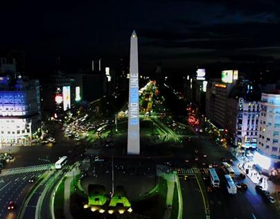 Vino Argentino | Mapping en el Obelisco
