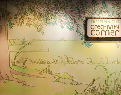 """""""Treemendous"""" Mural for Missouri Botanical Garden, 2011"""