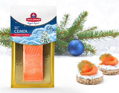 Santa Bremor: festive packaging design for salmon