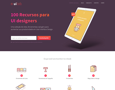 UI Lab - E-Book Landing Page