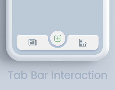 Tab bar interaction with animated icons