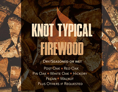 Knot Typical Firewood Logo and Business Card