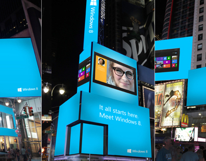 Meet Windows 8 - Times Square Digital Out of Home