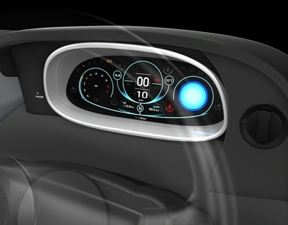 Electric Car Drivers Console