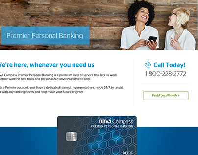 Premier Personal Banking Specialty Page Redesign