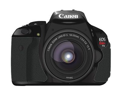 Canon T3i Illustration.