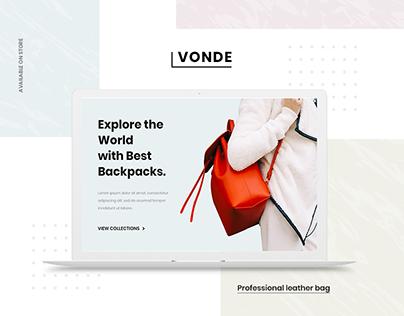VONDE - E-commerce Landing Page