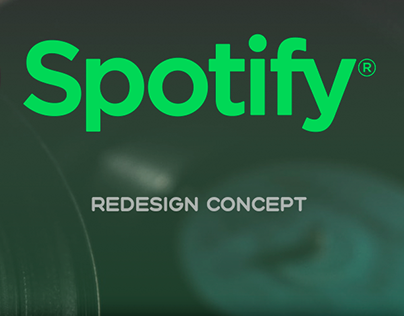 Spotify - redesign concept