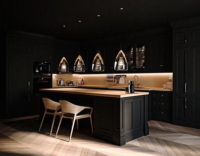 Black|Kitchen Design|