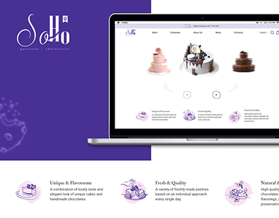 ECOMMERCE WEBSITE FOR SOHO PATISSERIE & CHOCOLATERIE