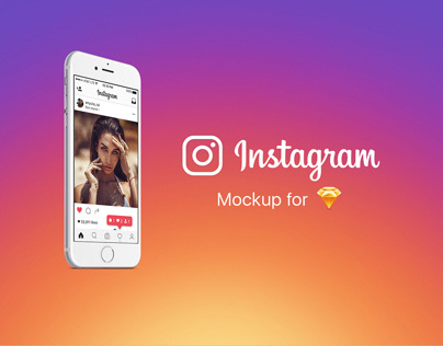 Instagram Mockup for Sketch