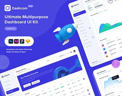 Dashcom - Dashboard UI Kit