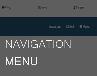 Responsive (Top) Navigation Menu | HTML5 and CSS3