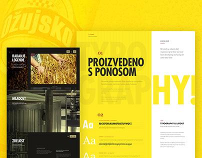 Ozujsko beer — website redesign