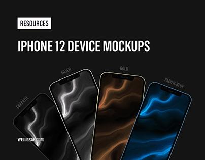 iPhone 12 Device Mockups - Free Resource
