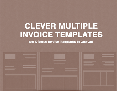 odoo invoice template on behance