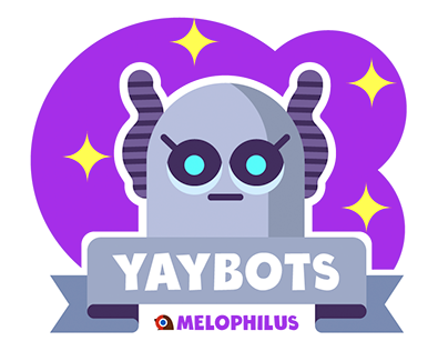 iOS digital stickerpack YAYBOTS!