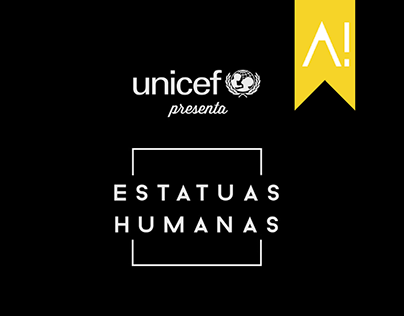 Unicef Human Statues, outdoor activation.